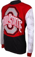 Ohio State Buckeyes Long Sleeved Bike Jersey