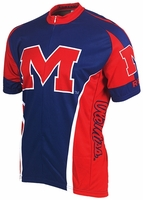 [DISCONTINUED] Ole Miss Running Rebels Cycling Jersey Free Shipping