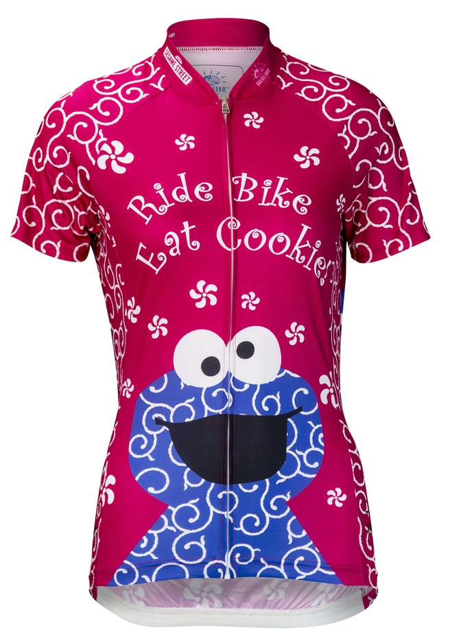 b5f7d038f Pink Cookie Monster Women's Cycling Jersey .