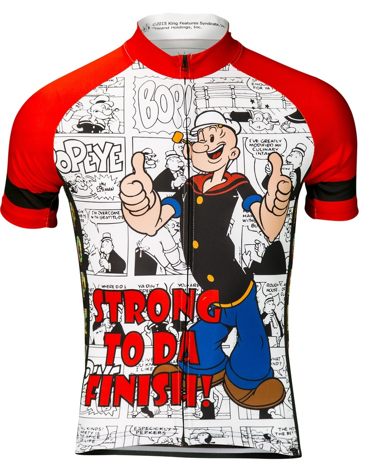 Popeye Strong To Da Finish Men s Cycling Jersey 602be9bff