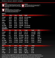 Primal Wear Sizing Chart