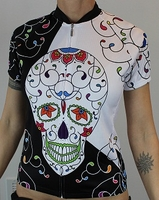 Psychedelic Skull Cycling Jersey