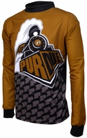 Purdue Boilermakers Long Sleeved Bike Jersey