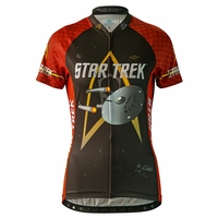 "Star Trek ""Engineering"" Women's Red Cycling Jersey"