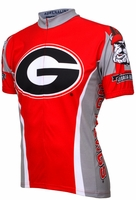 University of Georgia Bulldogs Cycling Jersey Free Shipping