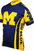 University of Michigan Wolverines Cycling Jersey Free Shipping