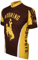 University of Wyoming Cowboys Cycling Jersey Free Shipping