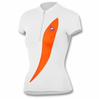 Women's Elegante White Cycling Jersey