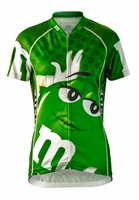 Women's Green M&Ms Cycling Jersey