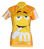 Women's Yellow M&Ms Cycling Jersey