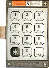 Genie 20235R Garage Door Opener Replacement Keypad and Ribbon for KEP-1