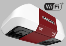 LiftMaster 8550W Elite Series� DC Battery Backup Belt Drive Wi-Fi� Garage Door Opener (7 ft. rail included)