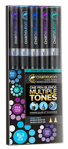Chameleon Color Tone Pens- Cool Tones Set of 5