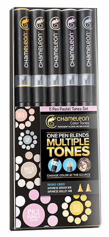 Chameleon Color Tone Pens- Pastel Set of 5