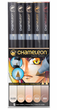 Chameleon Color Tone Pens- Skin Tones Set of 5
