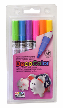 Decocolor 200 Fine Tip, Bright Set of 6