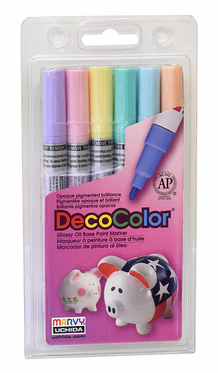 Decocolor 200 Fine Tip, Pastel Set of 6