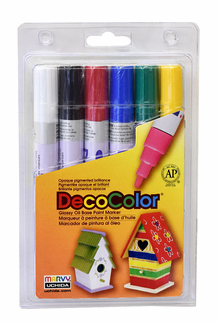 Decocolor 300 Broad Tip, Basic Set of 6
