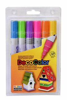 Decocolor 300 Broad Tip, Bright Set of 6