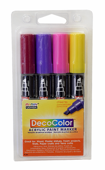 DecoColor Acrylic Paint Marker Bright Set of 4