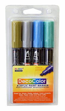 DecoColor Acrylic Paint Marker Metallic Set of 4