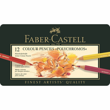 Faber-Castell Polychromos Oil-Based Colored Pencil Set of 12