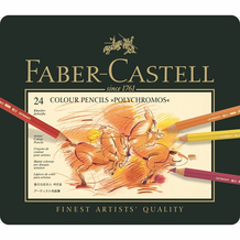 Faber-Castell Polychromos Oil-Based Colored Pencil Set of 24
