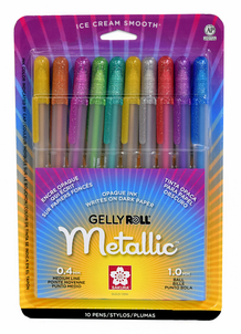 Gelly Roll Metallic Colors- Pack of 10