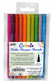 Marvy Color In Markers- Brush Tip- Natural Set of 10 (4400B-10D)