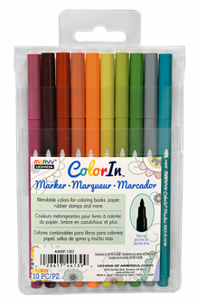 Marvy Color In Markers- Fine Tip- Natural Set of 10 (4400F-10D)