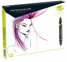 Prismacolor Double-Ended Brush Marker Set 12 : Primary and Secondary Colors