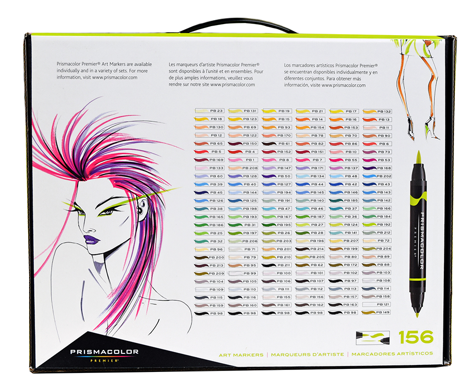Prismacolor Double Ended Brush Marker Set 156