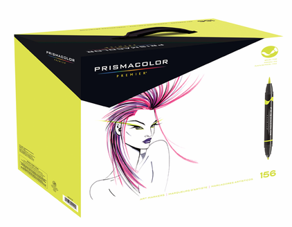 Prismacolor Double-Ended Brush Marker Set 156