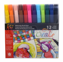 Sakura KOI Watercolor Brush Pens- Set of 12