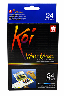 Sakura KOI Watercolors- 24-Color Pocket Field Sketch Box