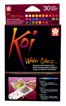 Sakura Koi Watercolors- 30-Color Pocket Field Sketch Box