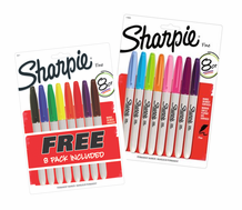 Sharpie Multicolor 8 Pack with Bonus Sharpie Fashion 8 Pack