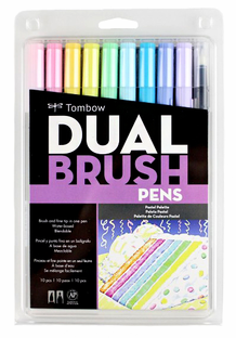 Tombow Dual Brush Pens- Pastel Set of 10