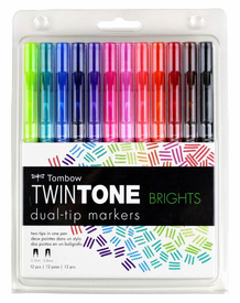 Tombow TwinTone Brights Set of 12