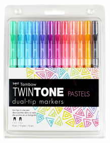 Tombow TwinTone Pastels Set of 12