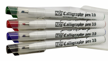 Zig Calligraphy Pen 4-Color Packs