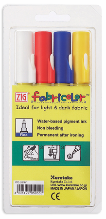 Zig Fabricolor Fine Tip Set of 4