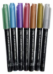 Zig Fudebiyori Metallic Brush Pen Set