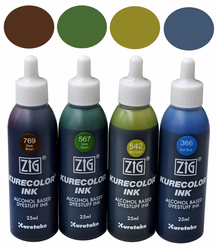 Zig Kurecolor Ink Gift Set- Earth Tones