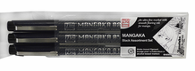 Zig Mangaka Cartoonist Outline Pen Set - Black
