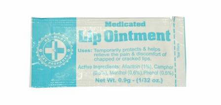 100 LIP OINTMENT PACKETS