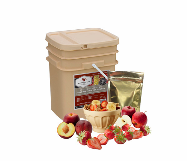 120 Serving Wise Freeze Dried Fruit Combination