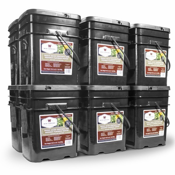 1440 SERVING WISE VEGETABLE  BUCKET w/ GOURMET FLAVORED SAUSE