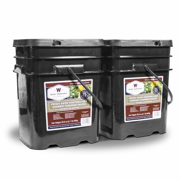 240 SERVING WISE VEGETABLE BUCKET w/ GOURMET FLAVORED SAUSE