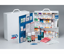 3 SHELF 1041 PIECE INDUSTRIAL FIRST AID CABINET